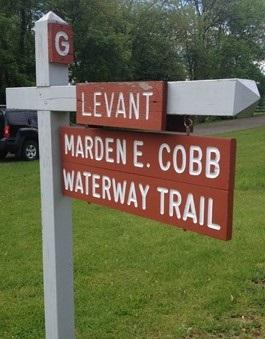 Marden E. Cobb Waterway Trail Sign