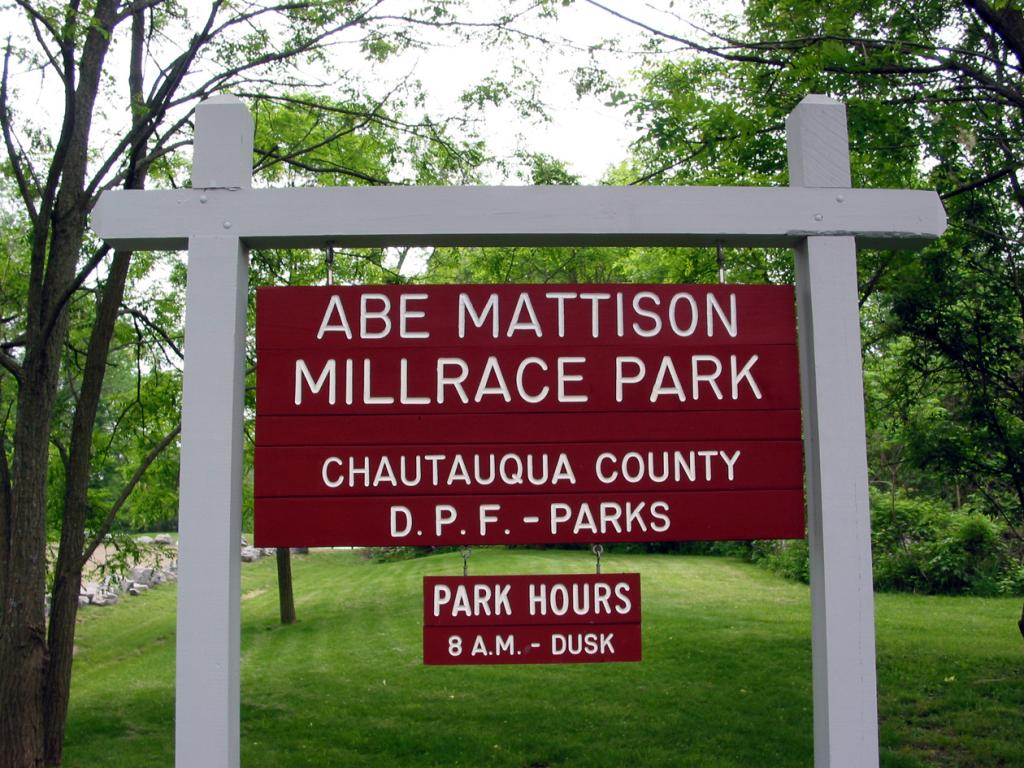 Abe Mattison Millrace Park Sign