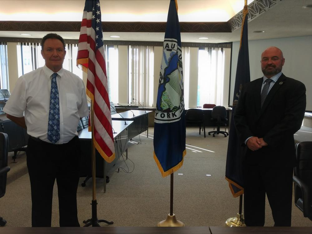 Probation Director Tom Narraway and County Executive PJ Wendel
