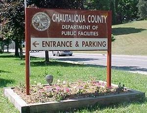 chautauqua County Department of Facilities Main Entrance Sign